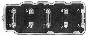 Порядок затяжки гаек шпилек крепления головки блока цилиндров двигателя УЗАМ-3317