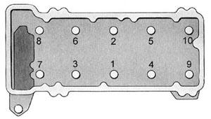 Порядок затяжки болтов крепления головки блока цилиндров двигателя ВАЗ-2106